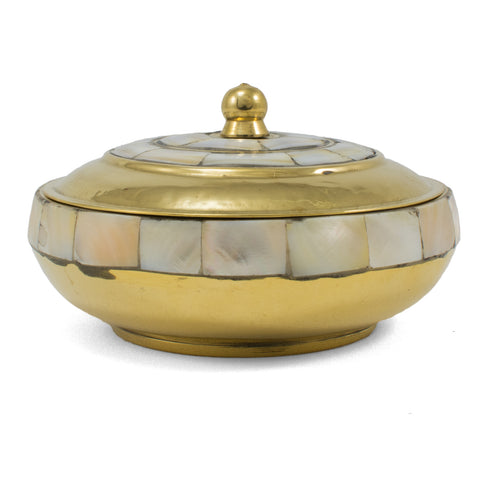 Mother of Pearl Brass Charcoal Incense Burner 26