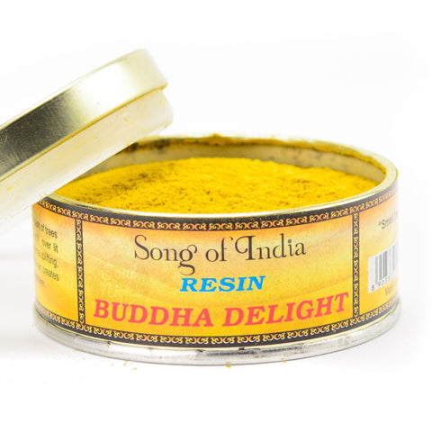 Buddha Delight Resin Incense Powder Blend Tin - by Song of India