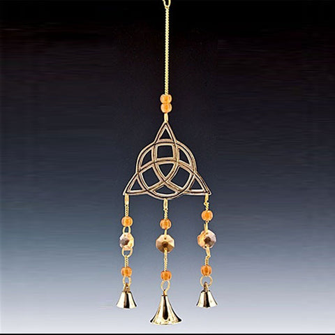 Triquetra Brass Chime with Beads