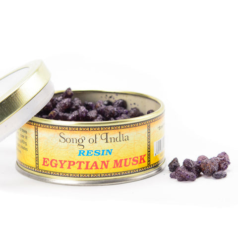 Egyptian Musk Resin Incense Blend Tin - by Song of India