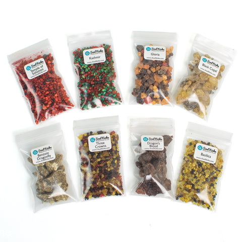 Fall Autumn 8 Incense Resin Sampler