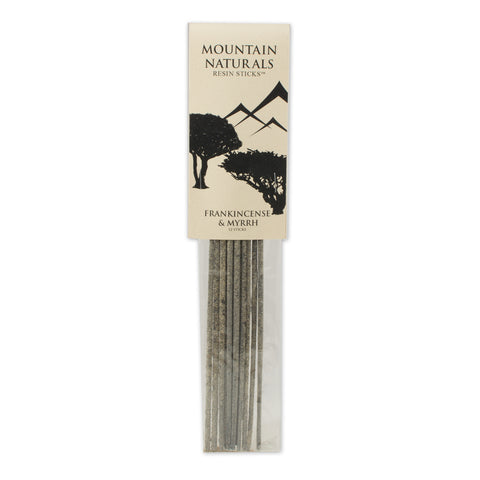 Frankincenese & Myrrh Resin Incense Sticks - by Mountain Naturals