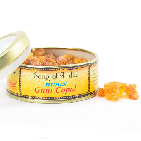 Gum Copal Resin Incense Blend Tin - by Song of India