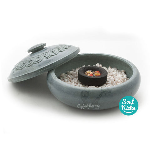 Green Soapstone Charcoal Incense Burner 503