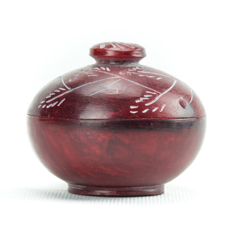 Small Soapstone Incense Burner Pot - for Incense Matches, Cones ...