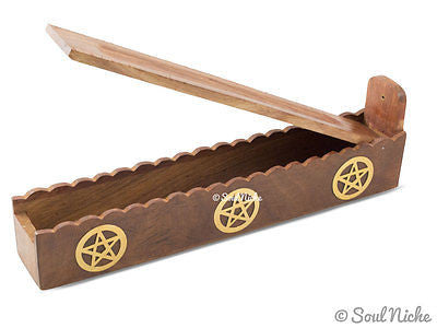 Pentagram Box Wooden Incense Burner