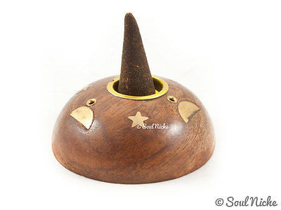 Small Wooden Celestial Incense Burner