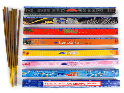 8-Pack Satya Incense Stick Sampler (10 Gram)