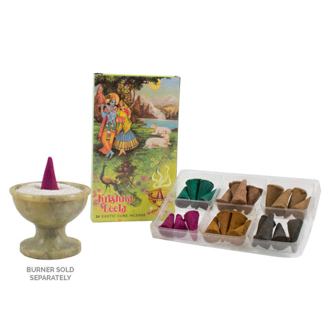 Krishna Leela Exotic Incense Dhoop Cones