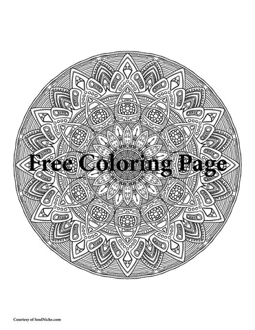 Free Mandala Coloring Page For November