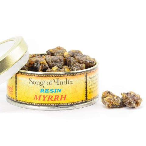 Myrrh Resin Incense Blend Tin - by Song of India