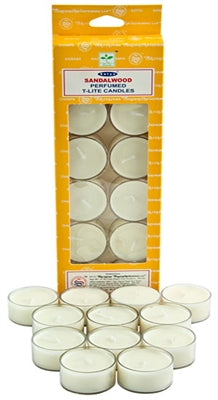 Satya Sandalwood Tea Light Candles (12 Per Pack)