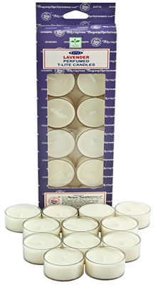 Satya Lavender Tea Light Candles (12 Per Pack)