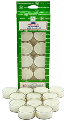 Satya Patchouli Tea Light Candles (12 Per Pack)