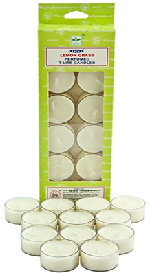 Satya Lemongrass Tea Light Candles (12 Per Pack)