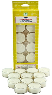 Satya Frankincense Tea Light Candles (12 Per Pack)