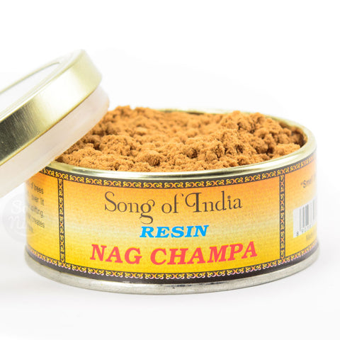 Nag Champa Resin Incense Powder Blend Tin - by Song of India