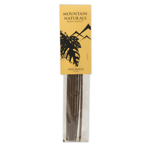 Patchouli Resin Incense Sticks - by Mountain Naturals