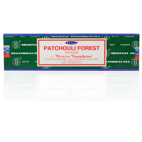 Satya Patchouli Forest Incense Sticks (100 Gram Box)