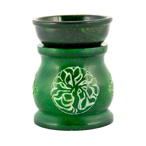Tree of Life Soapstone Aroma Lamp - Oil Diffuser