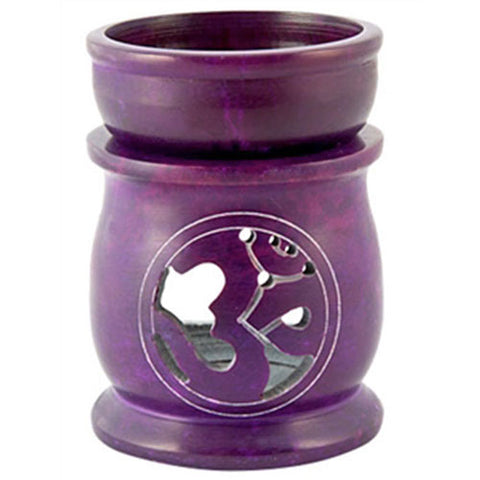 Purple Om Combination Oil Diffuser & Charcoal Resin Burner