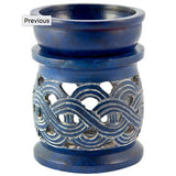 Blue Celtic Combination Oil Diffuser & Charcoal Resin Burner