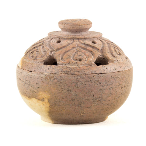 Small Soapstone Incense Burner Pot & Lid 35