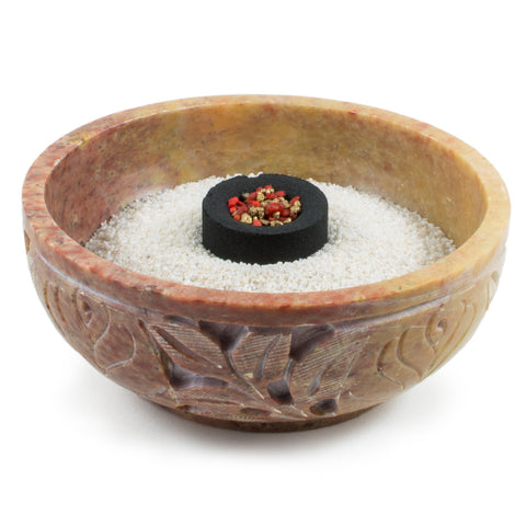 Carved Soapstone Bowl Charcoal Incense Burner 64