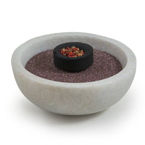 White Marble Bowl Charcoal Incense Burner