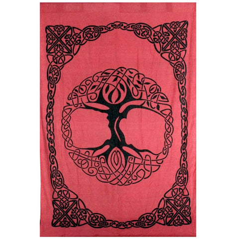 Tree of Life Tapestry (Wine): Twin, Full