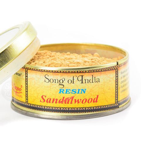 Sandalwood Incense Powder Blend Tin - by Song of India