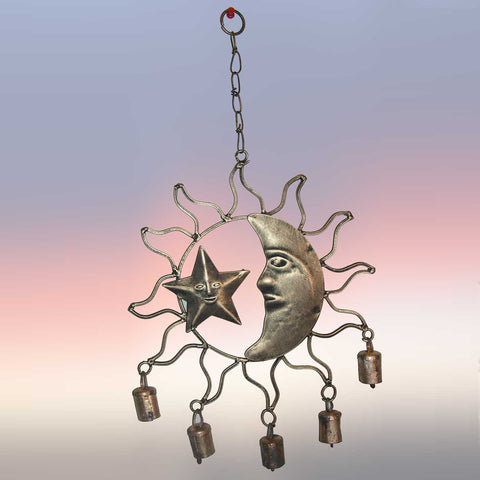 Celestial Sun Moon Star Windchime