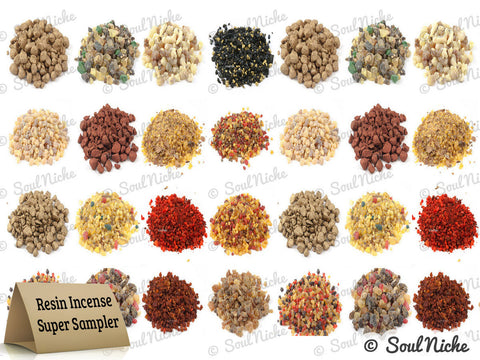 Super Resin Incense Sampler: 50 Fragrances