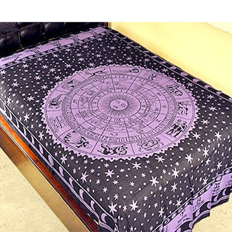 Zodiac Purple Tapestry (Twin)