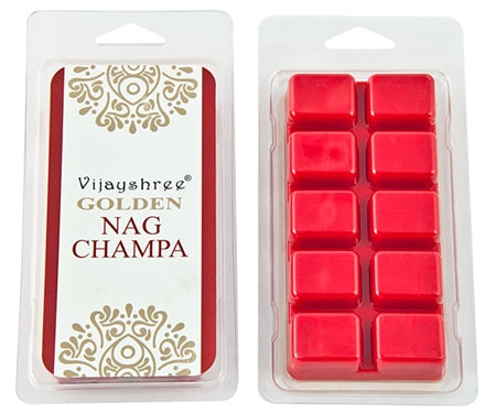 Golden Nag Champa Cube Wax Melts (10 Cubes)