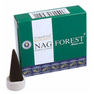 Golden Nag Forest Blend Incense Cones