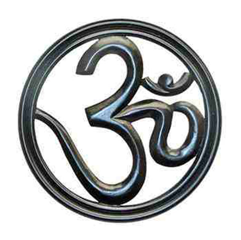 Wooden OM Symbol Wall Hanging 09