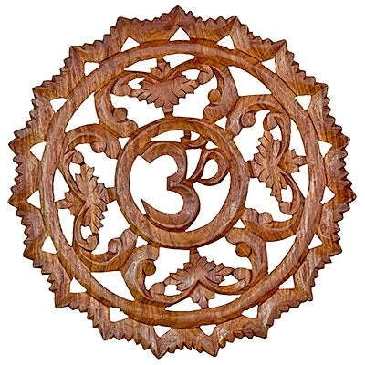 Wooden OM Symbol Wall Hanging 19