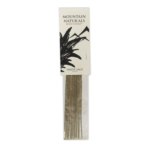White Sage Resin Incense Sticks - by Mountain Naturals