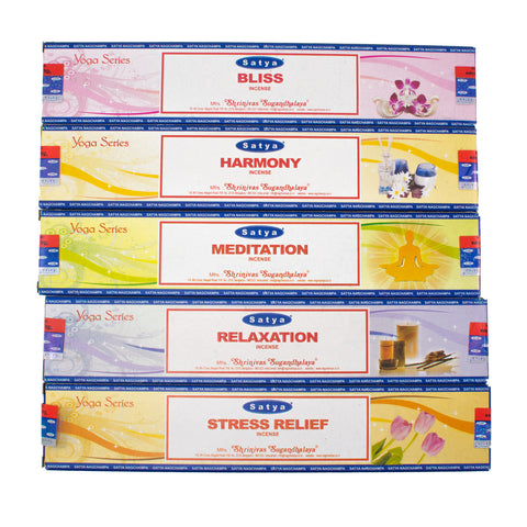 Complete Set - Yoga Series Satya Nag Champa Incense Sticks (15 Gram)