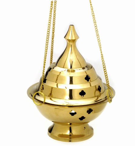 Hanging Brass Incense Burner Censor - 6""