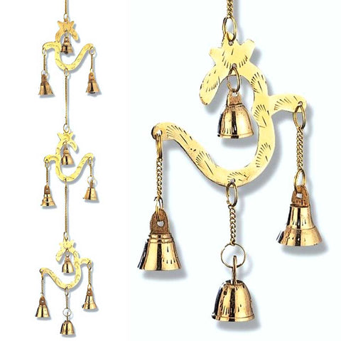 Brass OM String Bells Wind Chime