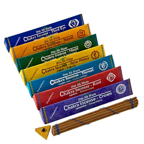 Om Ah Hum Chakra Incense Sticks (Nepal) - Set of 7