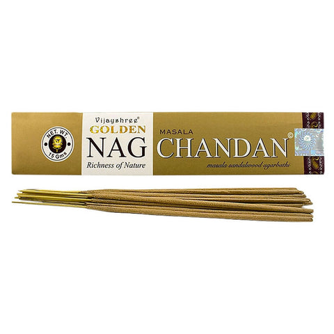 Golden Nag Chandan (Sandalwood) Incense Sticks Vijayshree