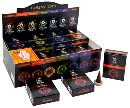 Goloka Chakra Incense Cones - Complete Set of 8