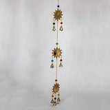Three Sun Charms Brass Windchime