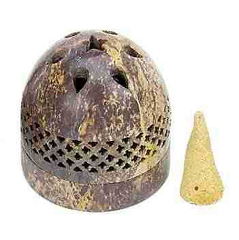 Soapstone Dome Incense Cone Burner