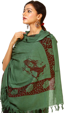 Green Prayer Shawl of Lord Shiva