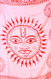Pink Surya (Sun God) Prayer Shawl