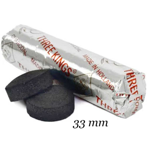 Three Kings Charcoal Tablets 33mm<br>(1 Roll)